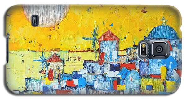 Abstract Santorini - Oia Before Sunset Galaxy S5 Case