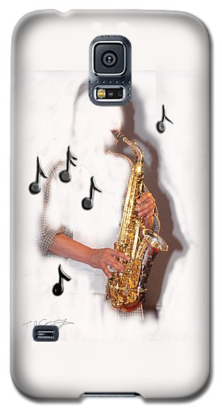 Abstract Saxophone Player Galaxy S5 Case by Tom Conway