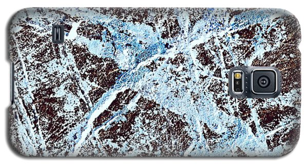 Abstract Scribble Pattern On Stone Galaxy S5 Case by Jozef Jankola