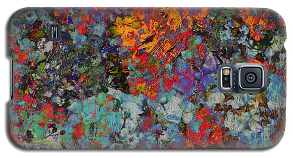 Galaxy S5 Case featuring the mixed media Abstract Spring by Ally  White