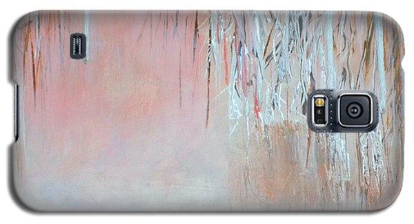 Galaxy S5 Case featuring the painting Abstract Spring by Donna Dixon