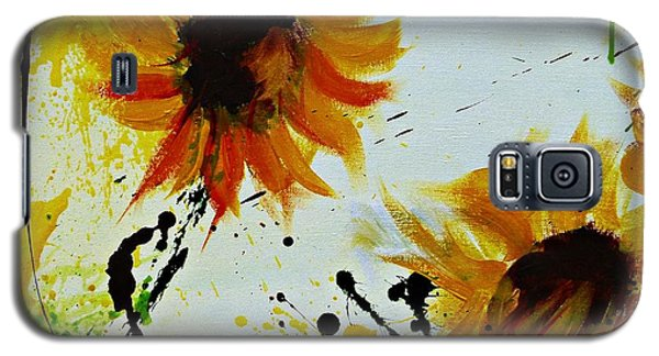 Abstract Sunflowers 2 Galaxy S5 Case