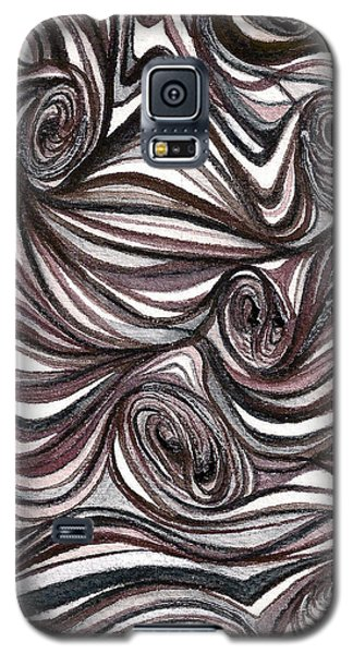 Galaxy S5 Case featuring the painting Abstract Swirls  by Nan Wright