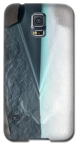 Galaxy S5 Case featuring the photograph Abstract Teal  by Sebastian Mathews Szewczyk