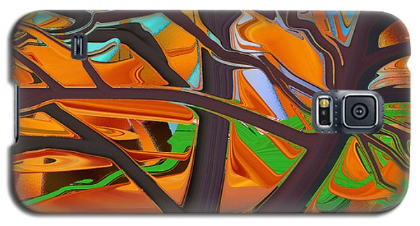 Abstract - Tree In Autumn Galaxy S5 Case