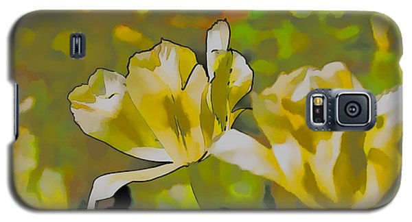 Galaxy S5 Case featuring the photograph Abstract Tulip by Leif Sohlman