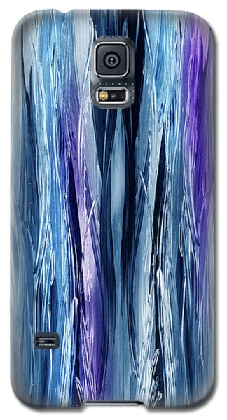 Abstract Waterfall Purple Flow Galaxy S5 Case