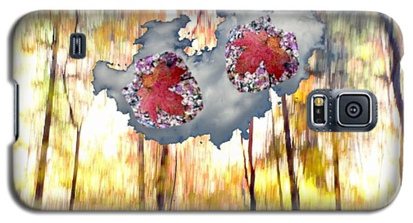 Abstract West Fork Autumn Bell Rock Heart Cloud Galaxy S5 Case by Marlene Rose Besso