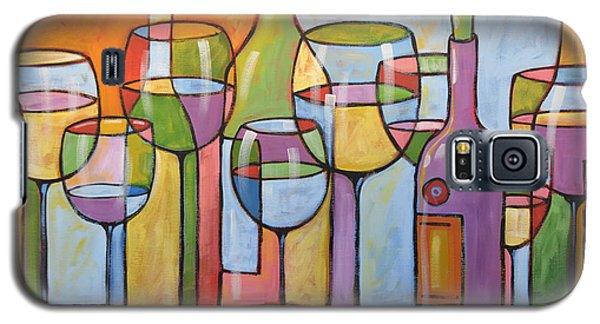 Abstract Wine Dining Room Bar Kitchen Art ... Time To Relax Galaxy S5 Case
