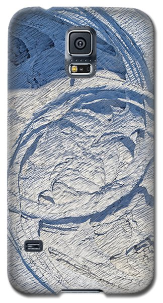 Abstract With Blue Shadows Galaxy S5 Case by Matt Lindley