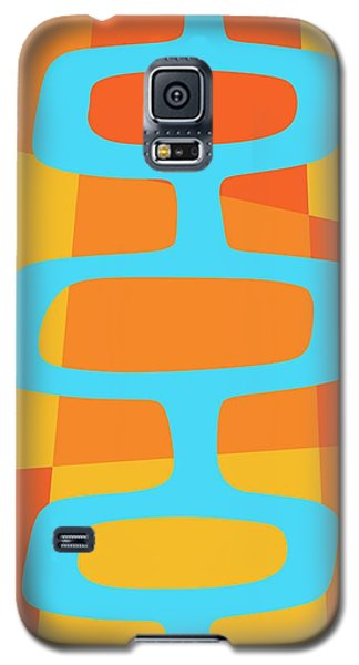 Abstract With Turquoise Pods 3 Galaxy S5 Case