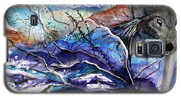 Galaxy S5 Case featuring the painting Abstract Wolf by Lil Taylor
