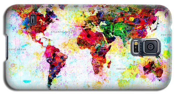 Abstract World Map Galaxy S5 Case