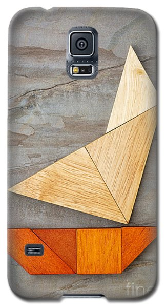 Abstract Yacht From Tangram Puzzle Galaxy S5 Case