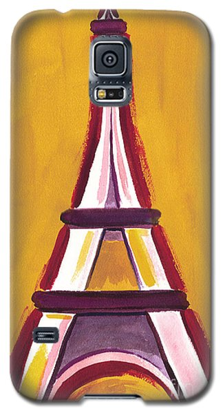 Abstract Yellow Red Eiffel Tower Galaxy S5 Case