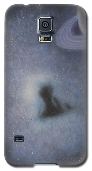 Galaxy S5 Case featuring the painting Abstract5 by Min Zou
