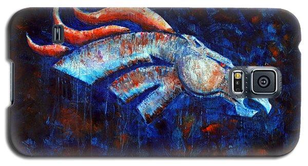 Abstracted Bronco Galaxy S5 Case by Jennifer Godshalk