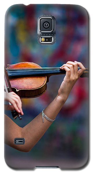 Violin Galaxy S5 Case - Abstracts From Vivaldi - Featured 3 by Alexander Senin
