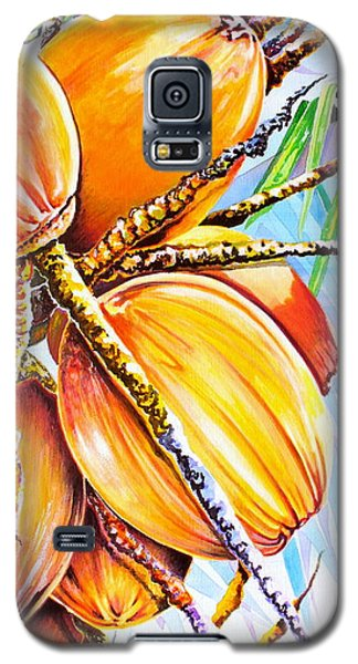 Galaxy S5 Case featuring the painting Abundance by Julie  Hoyle