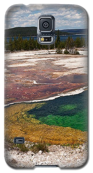 Galaxy S5 Case featuring the photograph Abyss Pool And Yellowstone Lake by Sue Smith