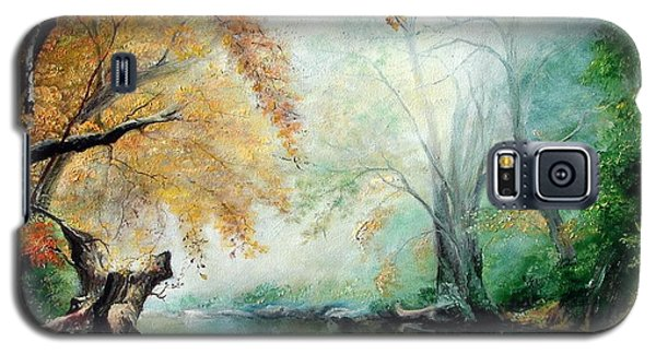 Galaxy S5 Case featuring the painting Abyss by Sorin Apostolescu