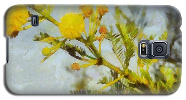 Galaxy S5 Case featuring the painting Acacia by Kai Saarto