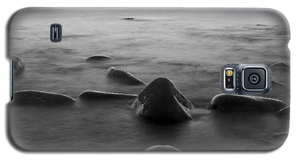 Acadia National Park Shoreline Sunrise Wakeup Black And White Galaxy S5 Case