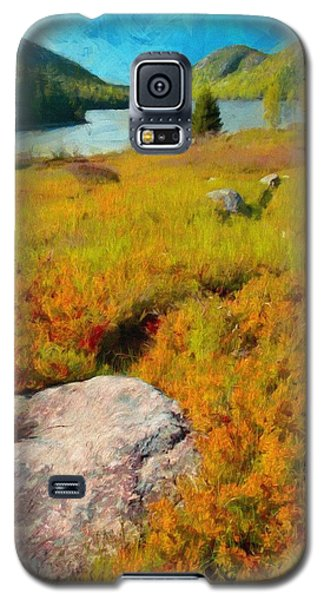 Galaxy S5 Case featuring the painting Acadia Spring by Jeff Kolker