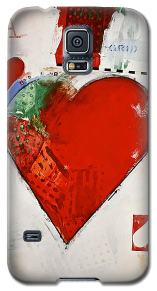 Galaxy S5 Case featuring the painting Ace Of Hearts 8-52 by Cliff Spohn