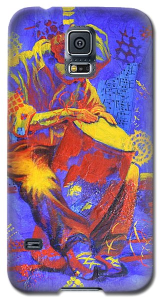 Galaxy S5 Case featuring the painting Acoustic Blues by Nancy Jolley