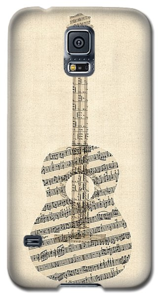 Acoustic Guitar Old Sheet Music Galaxy S5 Case