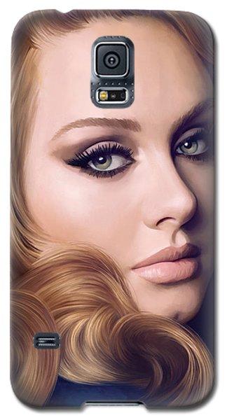 Adele Galaxy S5 Case - Adele Artwork  by Sheraz A