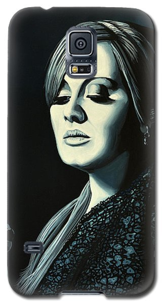 Adele Skyfall Painting Galaxy S5 Case by Paul Meijering