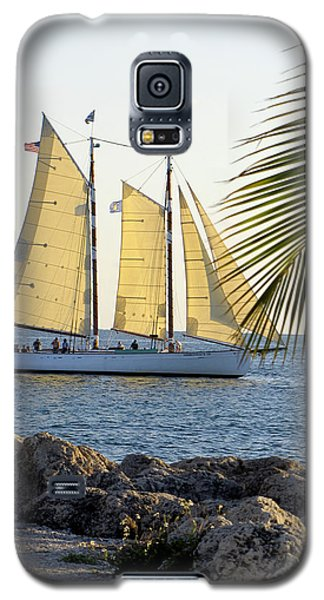 Sailing On The Adirondack In Key West Galaxy S5 Case