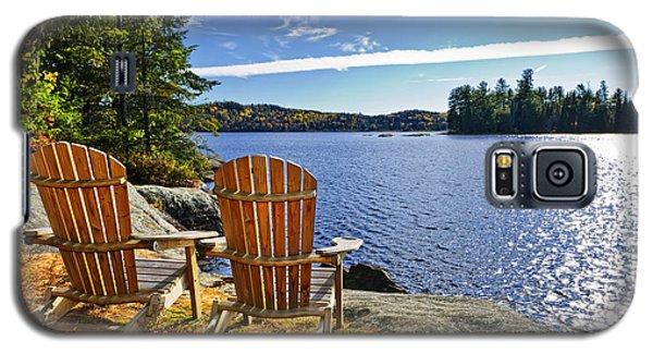 Adirondack Chairs At Lake Shore Galaxy S5 Case