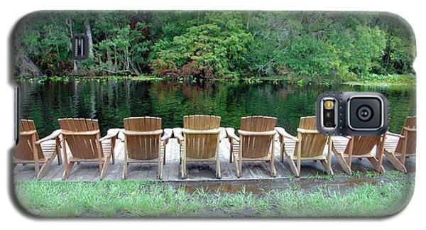 Adirondack Chairs By Lake Galaxy S5 Case