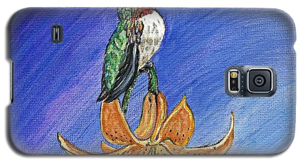 Galaxy S5 Case featuring the painting Admiration by Ella Kaye Dickey