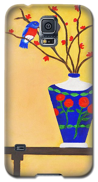Galaxy S5 Case featuring the painting Admiring Bird by Margaret Harmon