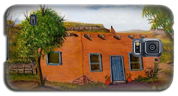 Galaxy S5 Case featuring the painting Adobe On The Prairie by Sheri Keith