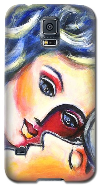 Galaxy S5 Case featuring the painting Adoration by Anya Heller