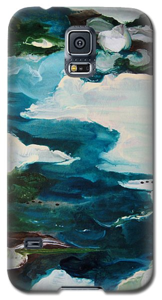 Galaxy S5 Case featuring the painting aDrift IV by Elis Cooke