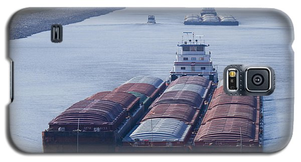 Aep Tow Passing Through The Chain Of Rocks Canal Galaxy S5 Case by Garry McMichael