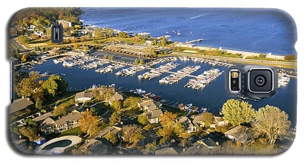 Aerial Of The Abbey Harbor - Fontana Wisconsin Galaxy S5 Case