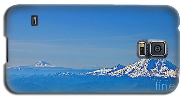 Aerial View Of Mount Rainier Volcano Art Prints Galaxy S5 Case