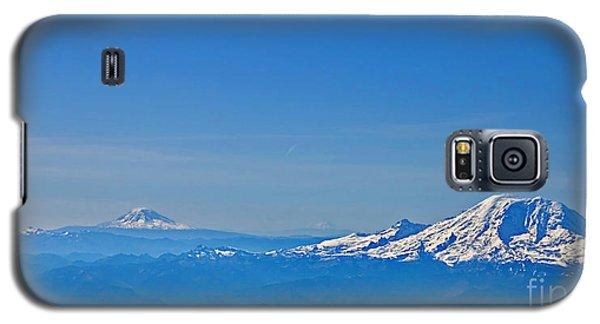 Aerial View Of Mount Rainier Volcano Art Prints Galaxy S5 Case