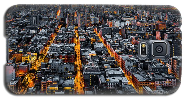 Aerial View Of New York City At Night Galaxy S5 Case
