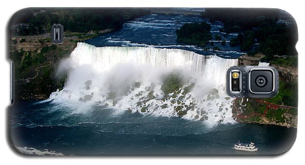 Aerial View Of Niagara Falls And River And Maid Of The Mist Galaxy S5 Case
