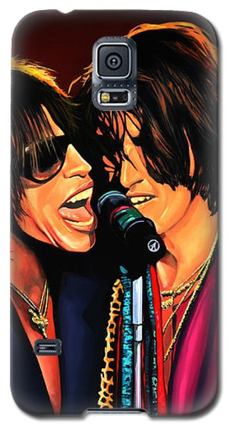 Steven Tyler Galaxy S5 Case - Aerosmith Toxic Twins Painting by Paul Meijering