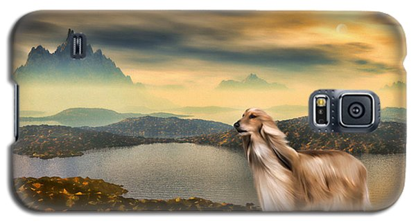 Galaxy S5 Case featuring the painting Afghan Hound by Tyler Robbins