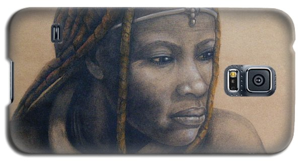 Galaxy S5 Case featuring the pastel Afican Woman by James McAdams